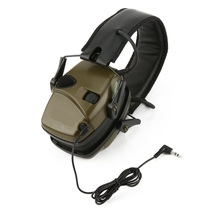 Electronic Shooting Earmuff Outdoor Sports Anti-noise Sound Amplification Tactical Hearing Protective Headset Foldable