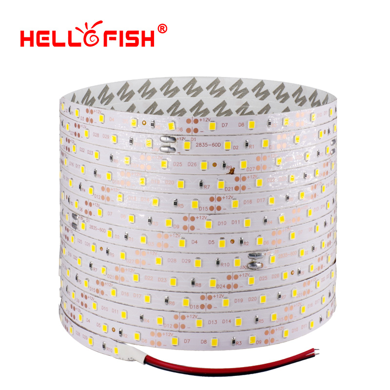 Hello Fish 5m 300 LED 2835 SMD LED Strip, 12V Flexible Light 60 Led/m LED Tape,RGB/ White/warm White/blue/green/red/yellow