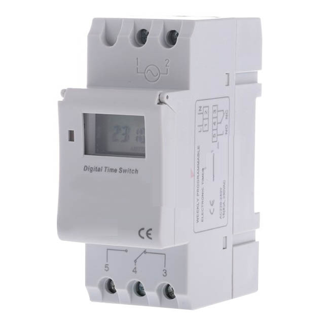 1 PC New  16A 220V  AC Digital LCD Weekly Programmable Timer Time Relay Switch VE505 T0.4 big lcd display timer 6v 9v 12v 24v dc ac 7 day weekly programmable time switch relay control for led light or solar application
