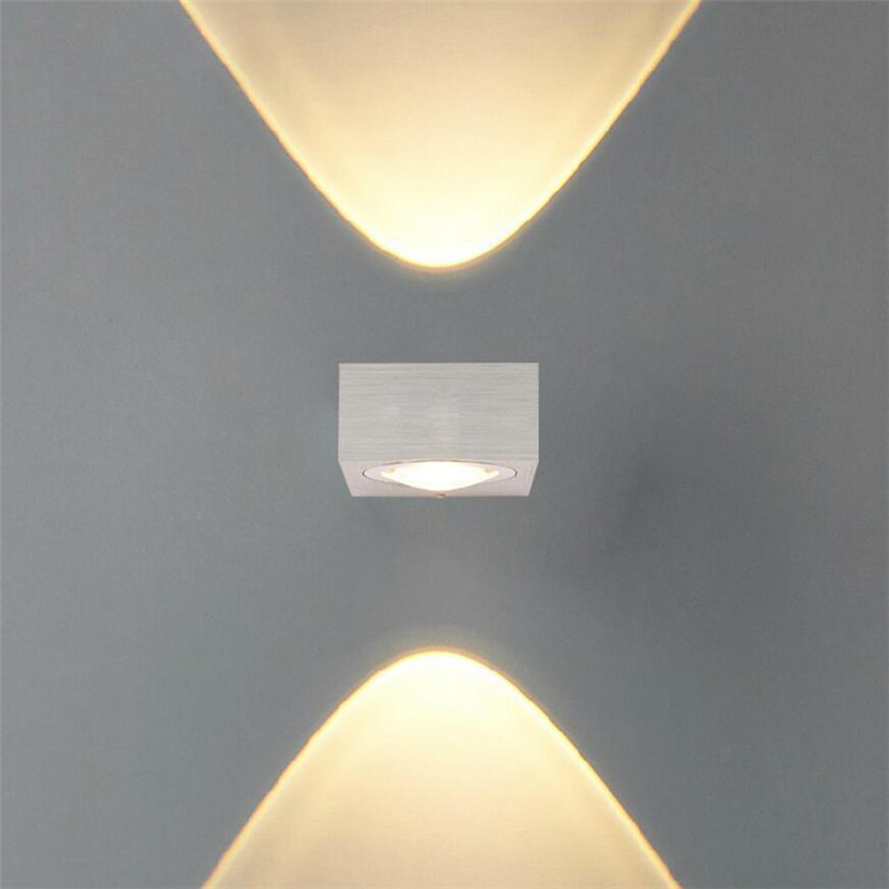 110 220v 6w led aluminum indoor outdoor wall lamp led wall light arandela lampe lampada led. Black Bedroom Furniture Sets. Home Design Ideas