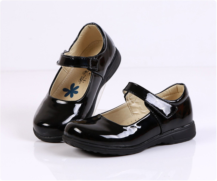 Black Girls Children Leather Shoes Student show Princess Shoes Flats Kids Sneakers Girls party dancing soft shoes shoes