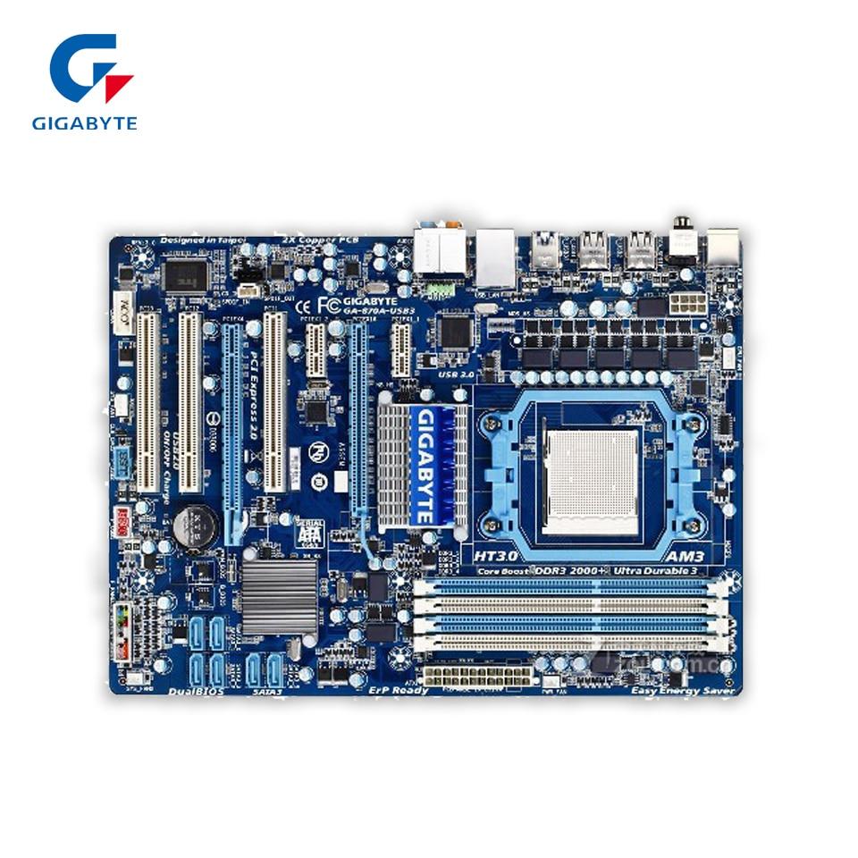 Gigabyte GA-870A-USB3 Original Used Desktop Motherboard 870 Socket AM3 DDR3 SATA3 USB3.0 ATX used original for biostar hi fi a85s2 fm2 motherboard for amd a85 usb3 0 sata3 motherboard
