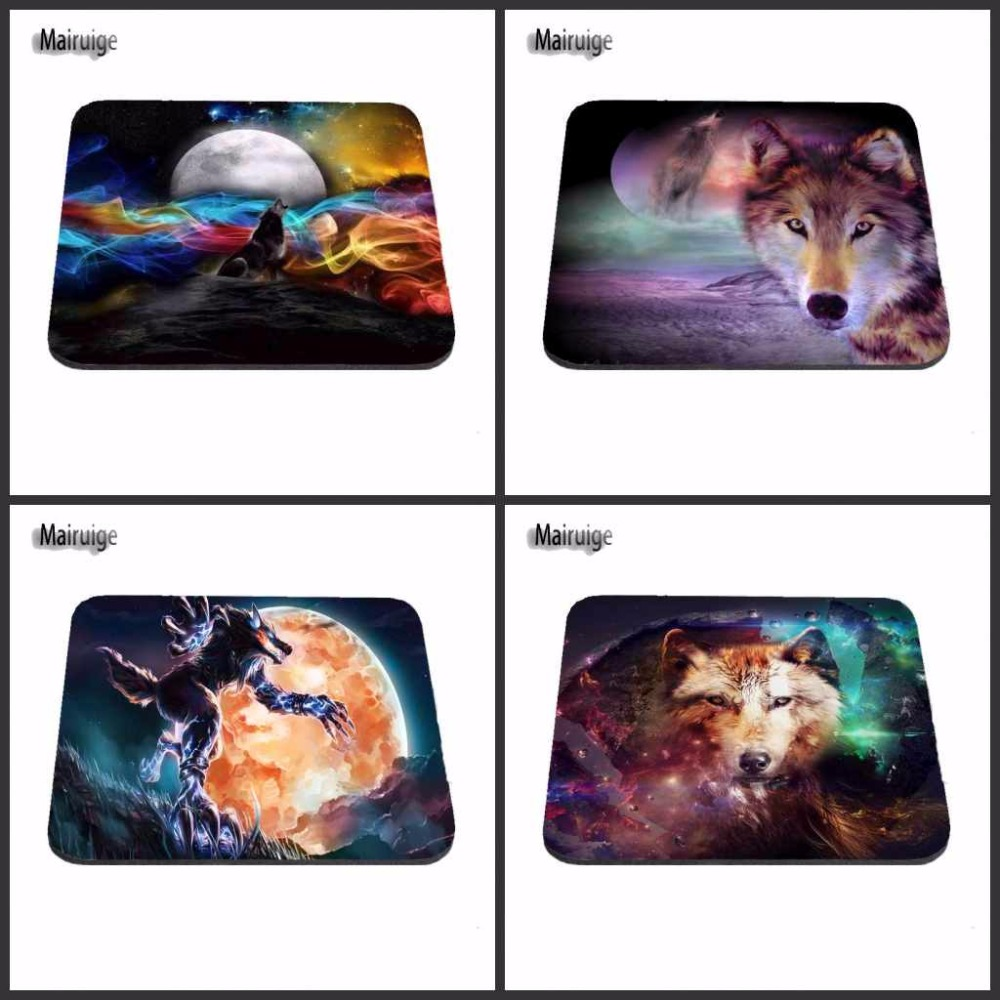 Magic Wolf Custom Support Beautiful Rubber Mouse Pad Size 18*22cm and 25*29cm And 25*20cm Gaming Mouse Mats As A Gift ...