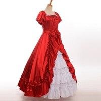 Women Civil War Southern Belle Prom Dress Victorian Period Lolita Ruffles Ball Gown