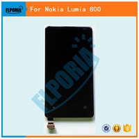 FLPORIA For Nokia For Microsoft Lumia 800 LCD Diaplay Touch Screen Digitizer Assembly Black Free Shipping