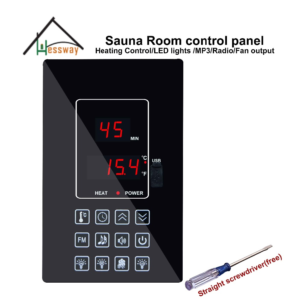 220V110V 30A dry steam room Oxygen bar sauna room Temperature Controller for control temperature and light