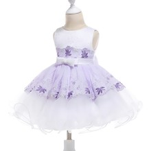 Free Shipping HG Princess 6M-24M Infant Dress 2018 New Arrival Patchwork  Ivory Lavender Party Dresses 1 Year Baby Girl Birthday dfeb74d72443