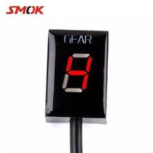 цена на SMOK For Suzuki Intruder 800 V-Strom GSXR 600 SV650 750 SV 650 Motorcycle 1-6 Level Ecu Plug Mount Speed Gear Display Indicator