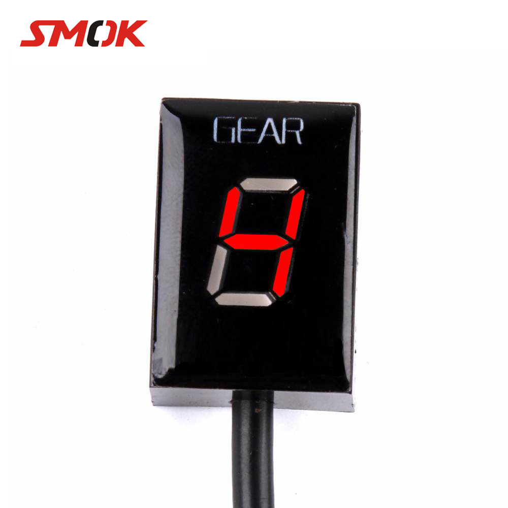 SMOK For <font><b>Suzuki</b></font> Intruder 800 V-Strom <font><b>GSXR</b></font> 600 SV650 <font><b>750</b></font> SV 650 Motorcycle 1-6 Level Ecu Plug Mount Speed Gear Display Indicator image
