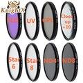 KnightX UV CPL Star ND 2 4 8 Filter Set lens for Canon Sony Nikon d3200 d5200 d5300 D600 D7000 D5200 D3200 49 52mm 58mm 67mm 6d