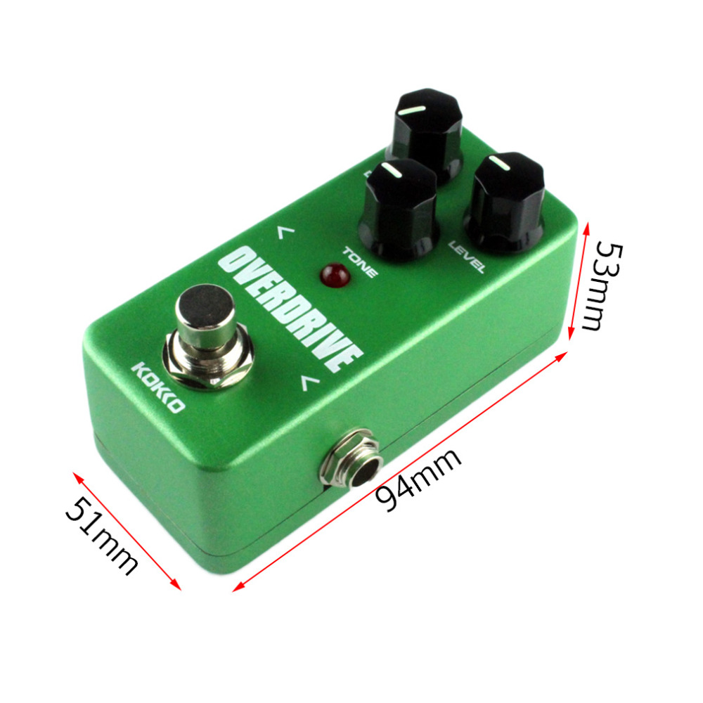 Mini KoKKo Vintage Overdrive Guitar Effect Pedal Guitarra Overdrive Booster High Power Tube Overload Guitar Stompbox