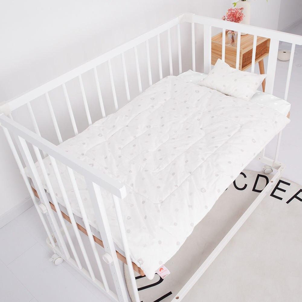 Детский бампер, защита для кровати, Младенческая кроватка, бампер для кровати, 4 шт., комплекты постельного белья для детей, включая простыню, подушка, одеяло, бампер - Цвет: white 3pcs bed set