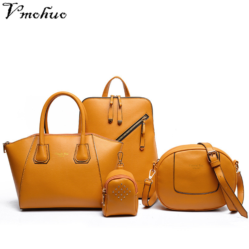 VMOHUO 4pcs/set Luxury Women Composite Bags Fashion Female Leather Handbags Cute Girls Crossbody Bags and Small Key Bags Holder 1