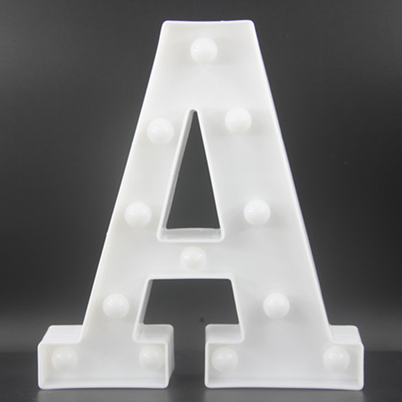 22CM White Letters LED Night Light Marquee Sign Alfabet - Nattlampor - Foto 5