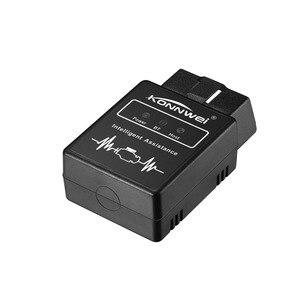 Image 2 - KONNWEI KW912 ELM327 Elm 327 Bluetooth OBD2 סורק עבור אנדרואיד טלפון לקרוא ברור שגיאת מנוע קוד קורא OBD II אבחון כלי