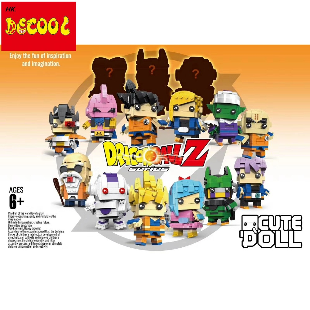 Compatible with lego DECOOL Dragon Ball Z Super heroes Action Figure Toys Brickheadz Building Blocks toys for minifigure single sale super heroes gi joe series matt with junkyard dog firefly snow job power girl building blocks kids gift toys kf6028