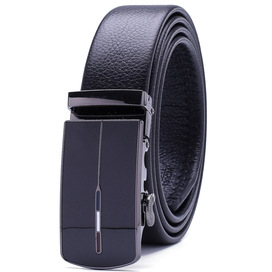 Business strap mens belt luxury 2018 new hot designer high quality fiber leather big size 160 cm 150 140 automatic buckle formal