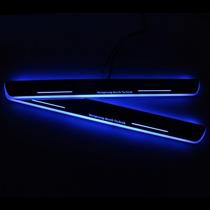 SNCN LED 車スカッフプレートプレートトリムペダルドア敷居経路移動用アウディ A4 B9 S4 RS4 2013  2015 2016 アクセサリー  グループ上の 自動車 &バイク からの インテリア モールディング の中 3