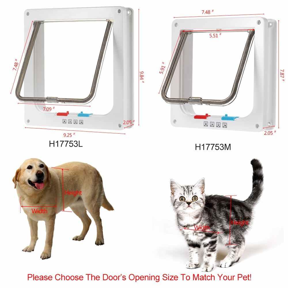 4 דרך נעילת חיות מחמד דלת W/חכם מתגי לשמור את בית דלת סגור אבל לאפשר חיית המחמד שלך כדי או החוצה באופן חופשי עבור כלב חתול חיות מחמד