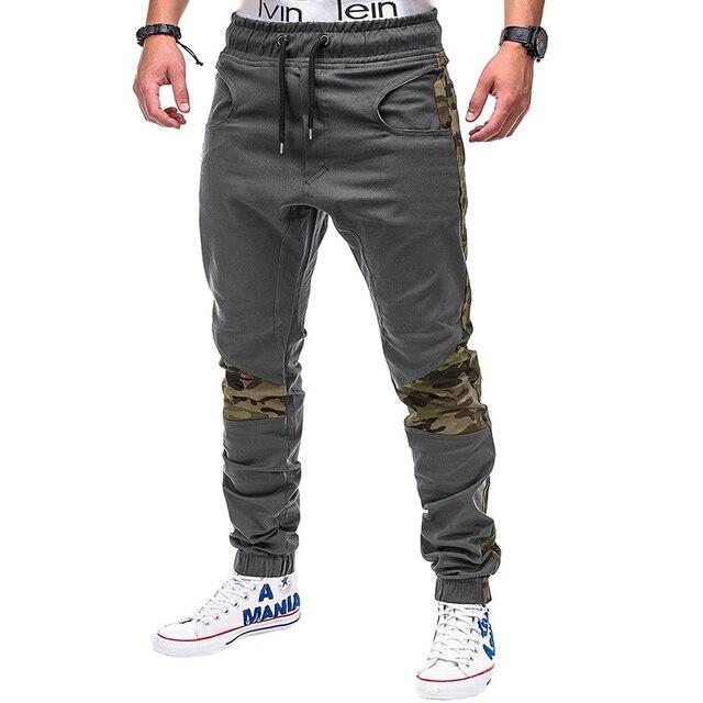 Camo Stitching Pants Hip-Hop Sweatpants 5