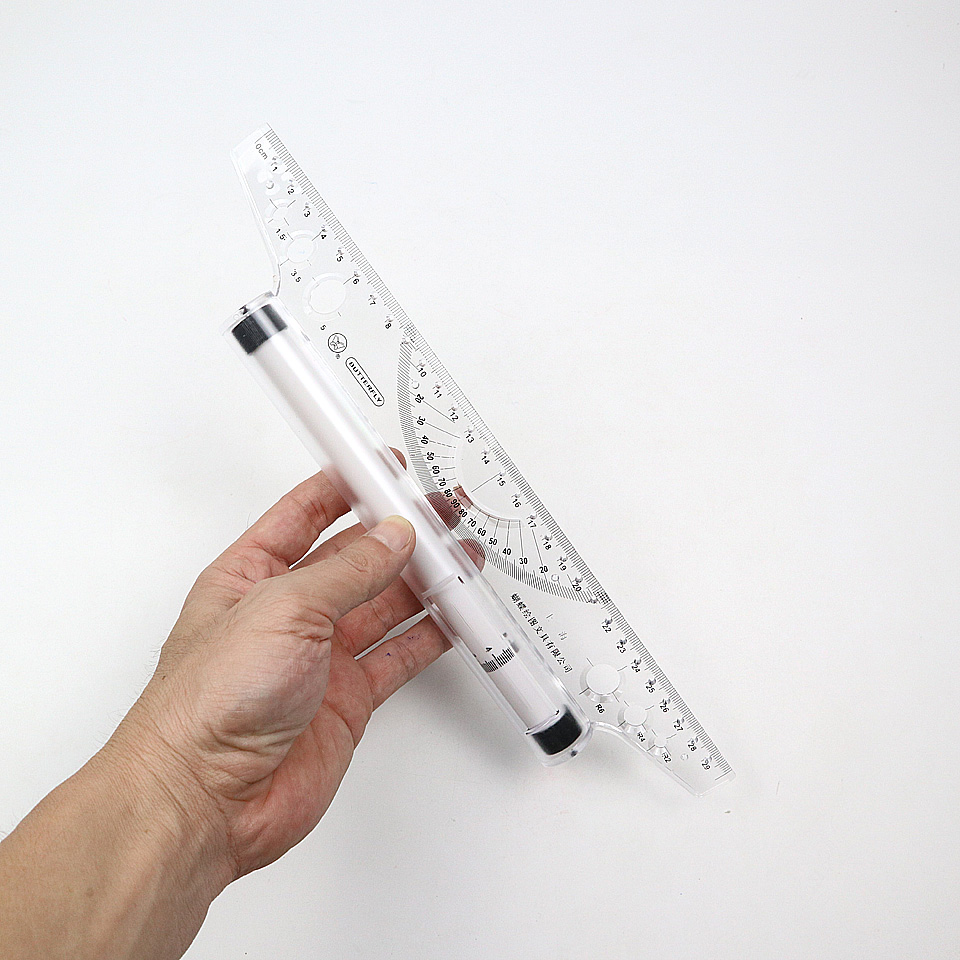 30cm Angle Parallel Ruler,Universal Foot Chiban Angle Rule, Balancing Scale Drawing Reglas Multi-purpose Rolling Ruler