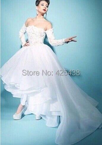 asymmetrical wedding dress. asymmetrical maternity wedding gown by ...