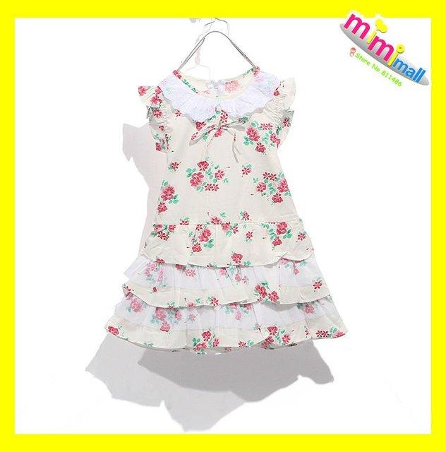 Free shipping;Girl\'s Red Flower Cute Princess Dress;Children Dress ...