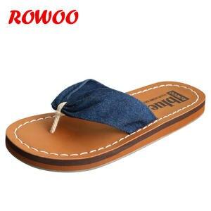 52db509ddeaf ROWOO Summer Women Ladies Slippers Female Shoes Flip Flops