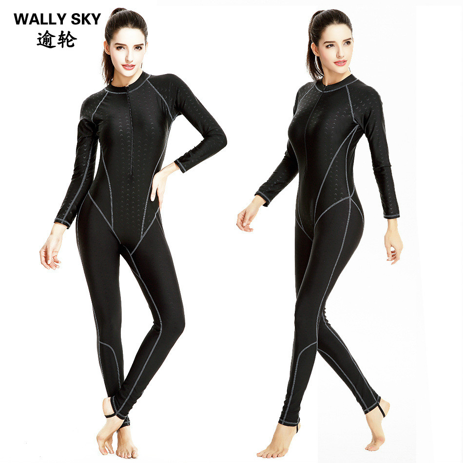 Women One Piece Quick Dry Dive Skin Swimming Jumpsuit Fitness Snorkeling Surfing Water Ski Anti UV Full Body Jellyfish Clothing 2017 new mens swimming professional swimwear one piece boys sports quick dry elastic surfing assorted colors bodysuit ventilate