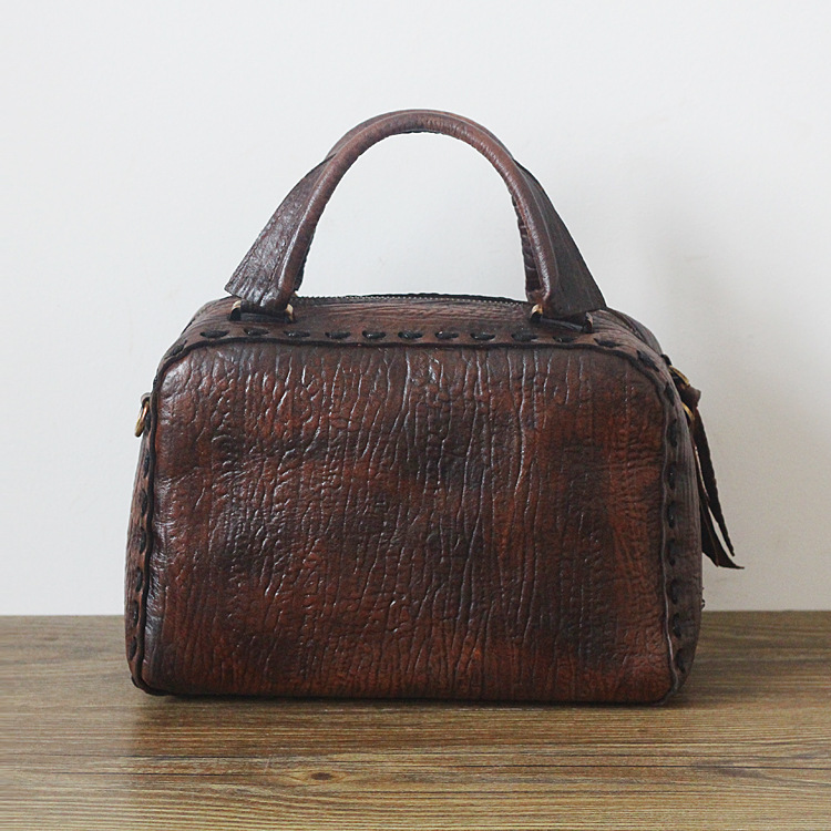 Luxury Brand Vintage Casual 100% Genuine Oil Wax Leather Cowhide Women Small Tote Handbag Messenger Shoulder Bags For Ladies цена и фото