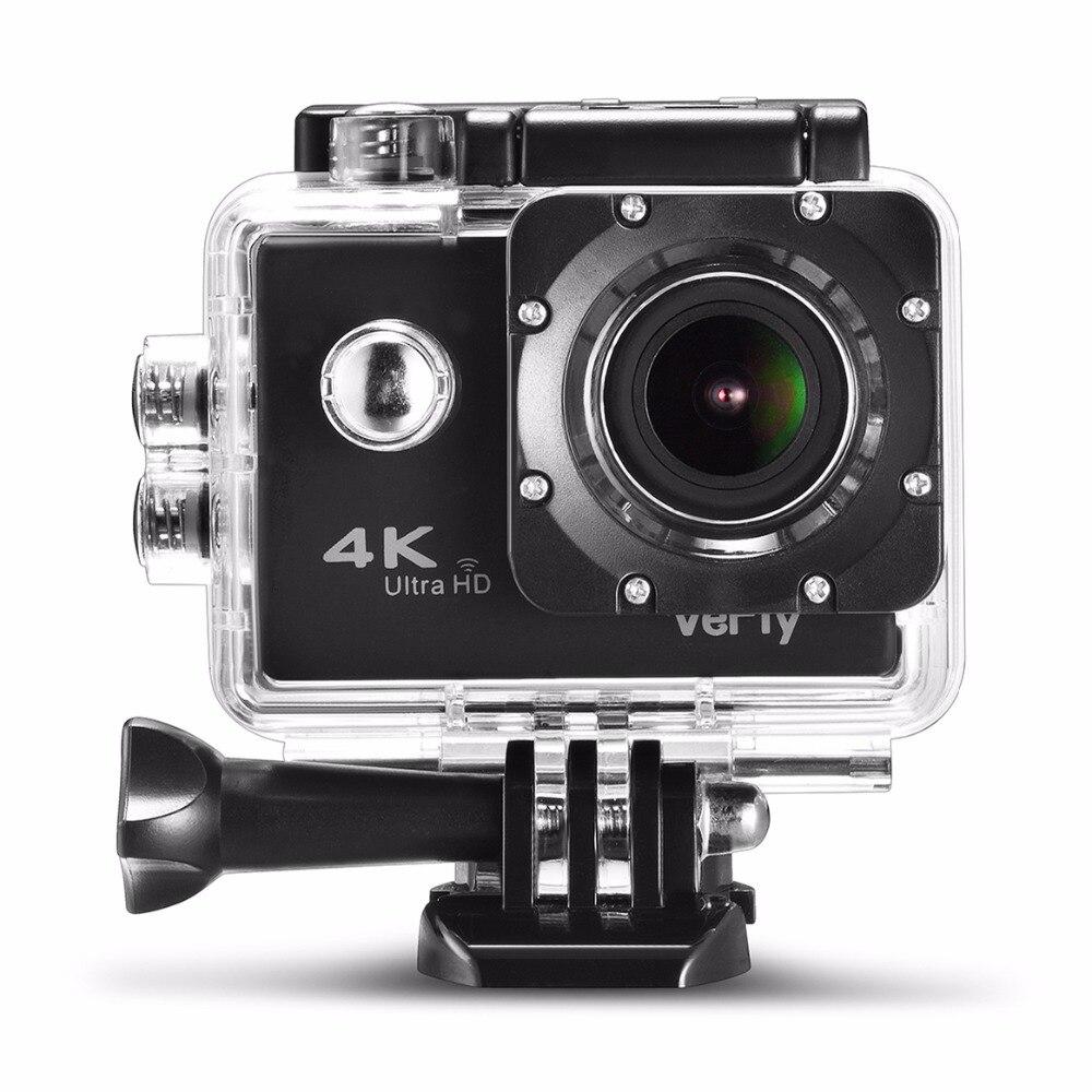 VeFly 2.0 pouces Écran Wifi 1080 P 4 K Étanche Action Sports Caméra, noir portable 16MP Sport Cam Go Pro Accessoires case set - 3