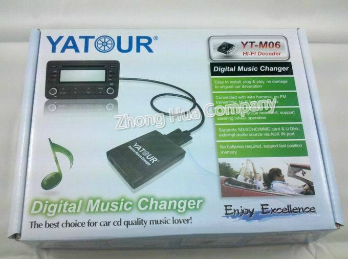 Yatour YTM06 Digital Music CD Changer Car Audio MP3 player for Volvo ...