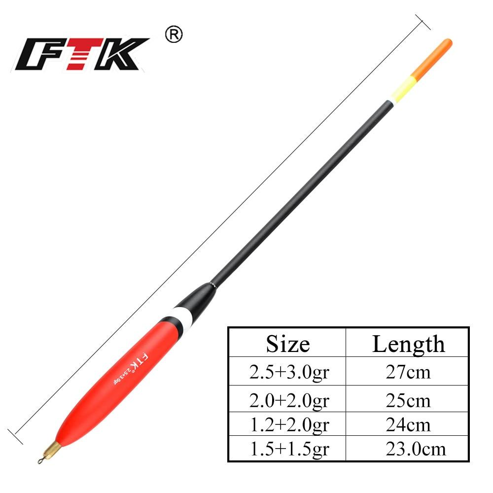 FTK Barguzinsky Fir Float 4PCS/LOT 1.5+1.5gr 1.2+2.0gr 2.0+2.0gr 2.5+3.0gr Bobber Vertical Buoy Mixed Size Float peche accesoire