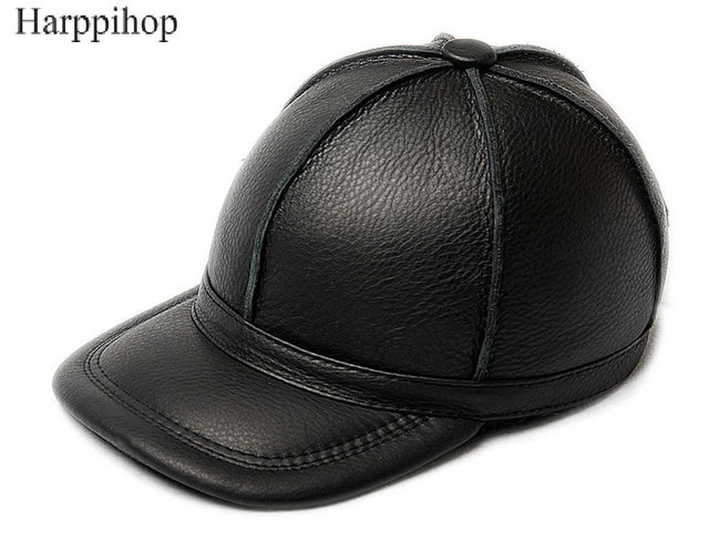 100% cowhide genuine leather hats 2017 new arrival caps New Men s Women s  cow Leather Golf Hat   Baseball Cap Free shipping f39dff184f4