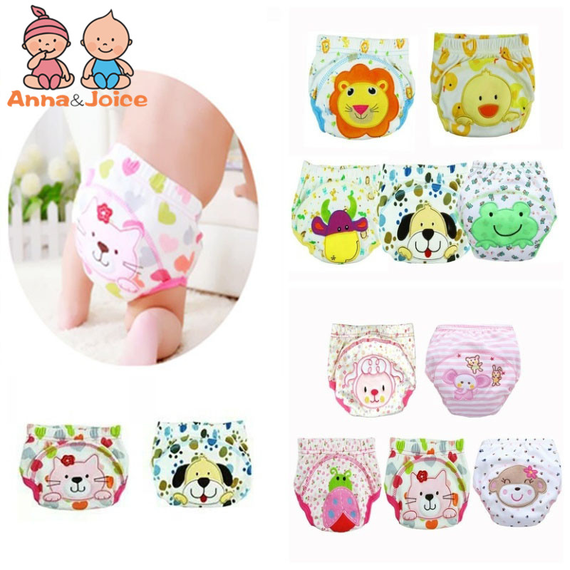 15Pc/lot  Waterproof Baby Training Pant Underwear Cotton Learning/study Infant Pants + Diapers 9-15kg
