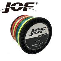 Nuovo JOF 8 FILI 500 M Super Strong 8 PLYS Giappone Multifilamento 8 PE Intrecciato Linea di Pesca multicolor 0.4 #-20 #12-200 LBs