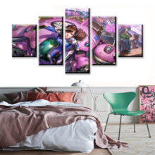 5 Piece Cartoon Picture Printed Overwatch Game Poster Anime Girl Decoration Canvas Art Wall Painting for Home Decor