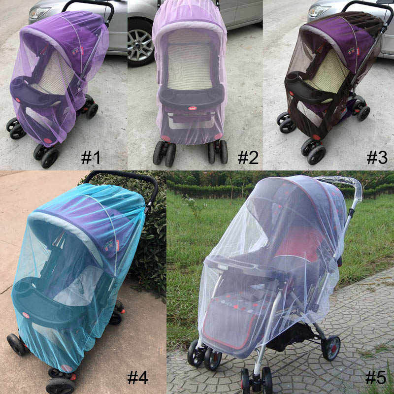 150cm summer Baby Stroller Pushchair Mosquito Net Insect Shield  Safe Infants Protection Mesh Stroller Accessories