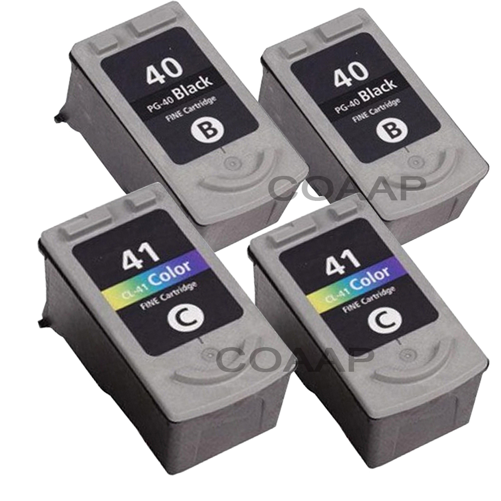 4PK PG 40 CL 41 Ink Cartridge for Canon PG40 CL41 For Canon PIXMA iP1200 iP1300