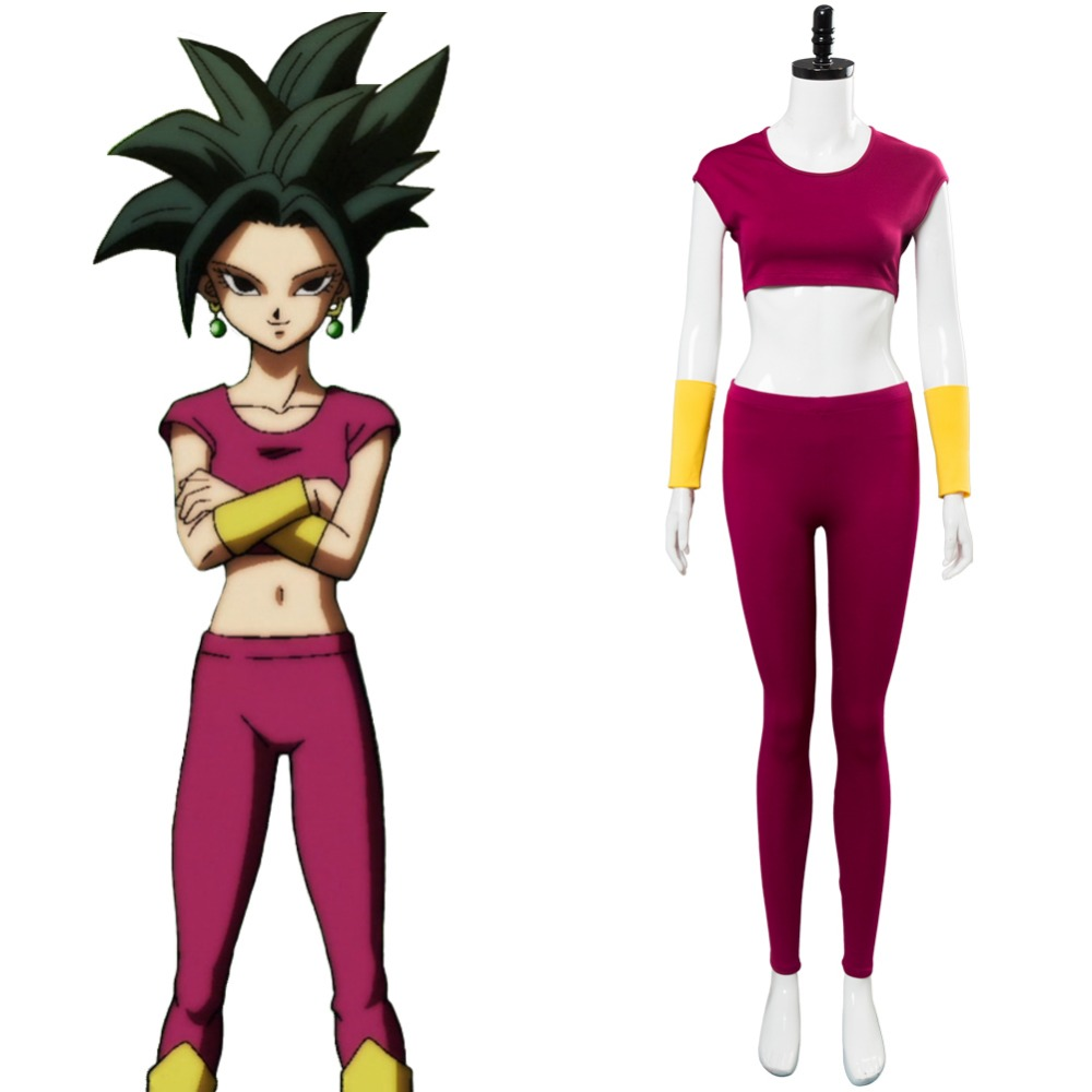 Dragonball Super Kefla Kefura Legendary Super Saiyan Potara Fusion Cosplay Costume Adult Full Set Halloween Party Costume