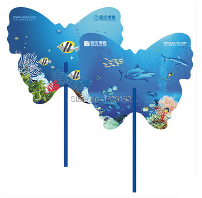 Customized logo printing 1000pcs lot Advertising plastic hand fan for promotion Cute cool PP hand fan