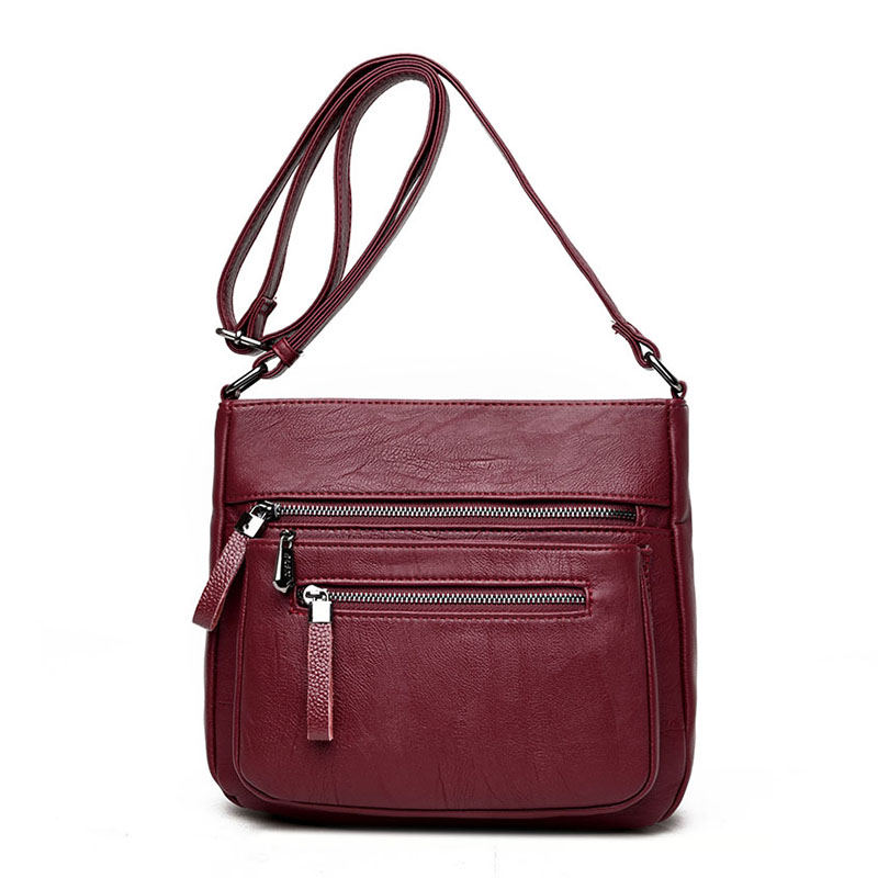 DIZHIGE Brand 2017 High Quality Sheepskin Women Messenger Bags Shoulder Genuine Leather Bags Women Double Zippers Crossbody Bags Lahore