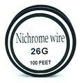 26 Gauge fio de nicromo 100 FT 0.4mm Cantal Resistor Resistência AWG