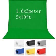 7 цветов 1,6X3 м Нетканая фотостудия зеленый Экран Chroma key фон для освещения студии 5x10ft