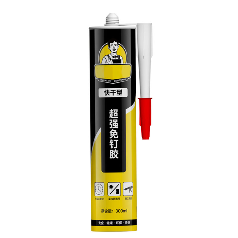 Nail Free Adhesive Strong Liquid Nail Quick Drying Glass Adhesive - Fast drying tile adhesive