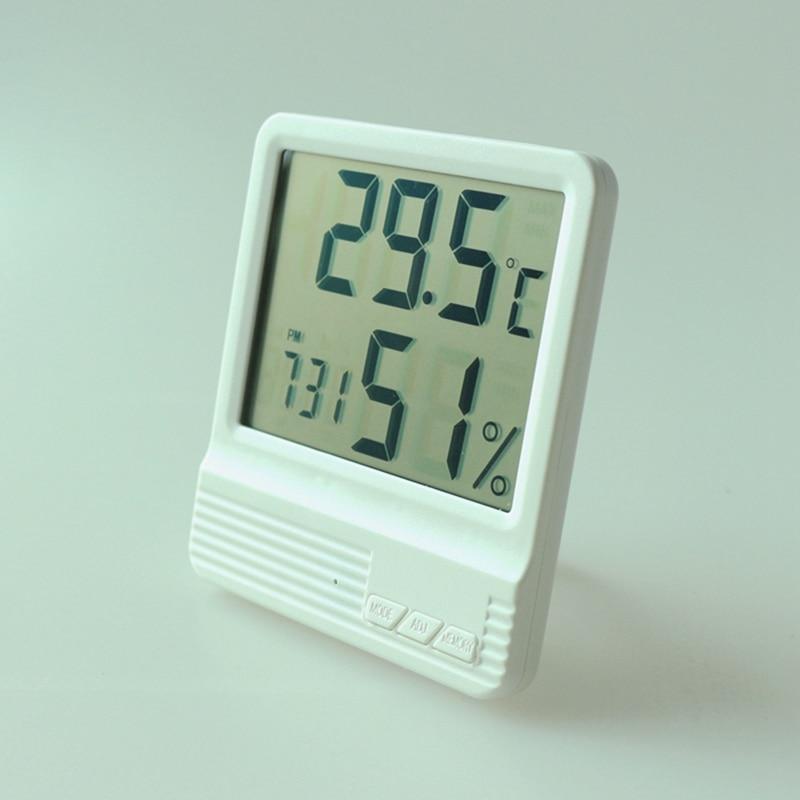 new room thermometer hygrometer alarm clock lcd digital. Black Bedroom Furniture Sets. Home Design Ideas