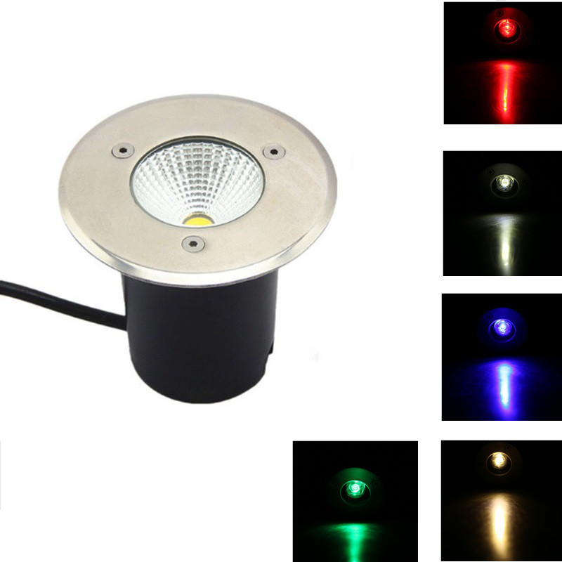 Led Lamps Special Section 5pcs/lot New Ip68 5w Waterproof Led Underground Light Outdoor Ground Garden Path Floor Buried Yard Spot Landscape 85-265v Dc12v Be Shrewd In Money Matters