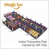 MAGICFUN оборудование для игровой площадки в помещении типа горячая продажа коммерческий большой закрытый Батутный парк
