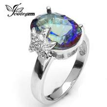 6ct Blue Rainbow Blue Mystic Topaz Ring Marriage ceremony Advantageous Jewellery For Ladies Real 925 Stable Sterling Silver Model New 2016 Vogue