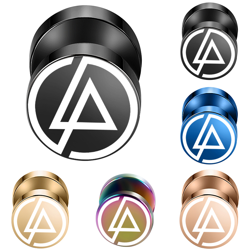 US $1 96 |2pcs/Lot Linkin Park Rock Band Fake Ear Gauge,Plugs and  Tunnels,Fake Piercing Expander Stretcher, Punk Earring Gift For Man-in Body  Jewelry
